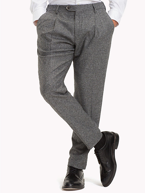 TOMMY HILFIGER Wool Blend Slim Fit Trousers - 020 - TOMMY HILFIGER Trousers & Shorts - main image