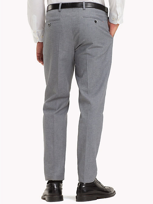 TOMMY HILFIGER Stretch Cotton Slim Fit Trousers - 015 - TOMMY HILFIGER Suits & Tailored - detail image 1