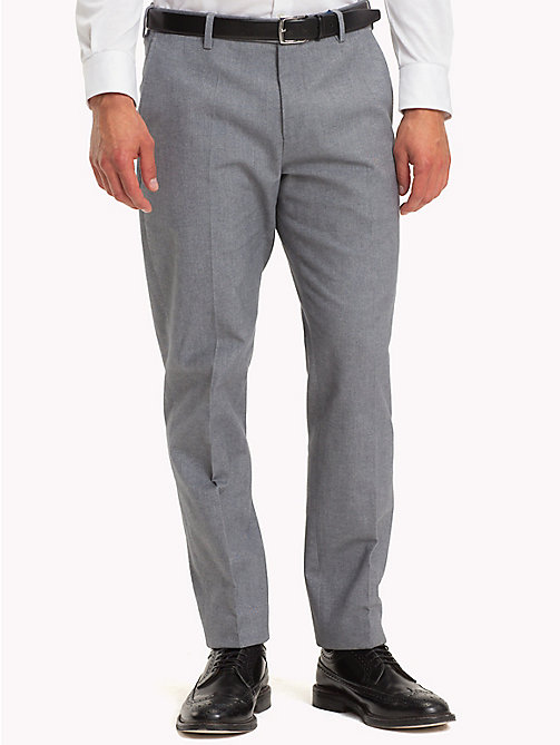 TOMMY HILFIGER Stretch Cotton Slim Fit Trousers - 015 - TOMMY HILFIGER Formal Trousers - main image