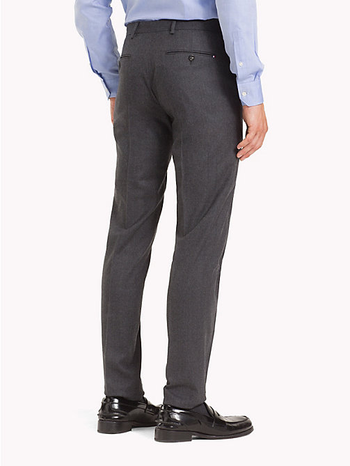 TOMMY HILFIGER STRETCH FLANNEL SLIM FIT PANTS - 018 - TOMMY HILFIGER Formal Trousers - detail image 1