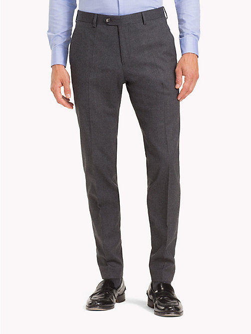 TOMMY HILFIGER STRETCH FLANNEL SLIM FIT PANTS - 018 - TOMMY HILFIGER Zakelijke broeken - main image