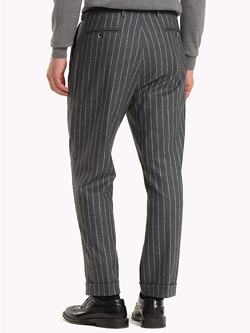 TOMMY HILFIGER Stripe Wool Blend Trousers - 018 - TOMMY HILFIGER Trousers & Shorts - detail image 1