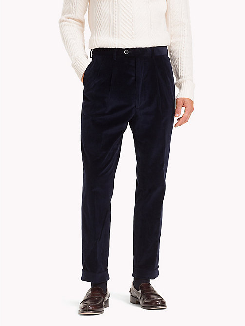 TOMMY HILFIGER Corduroy Stretch Cotton Trousers - 427 - TOMMY HILFIGER Formal Trousers - main image