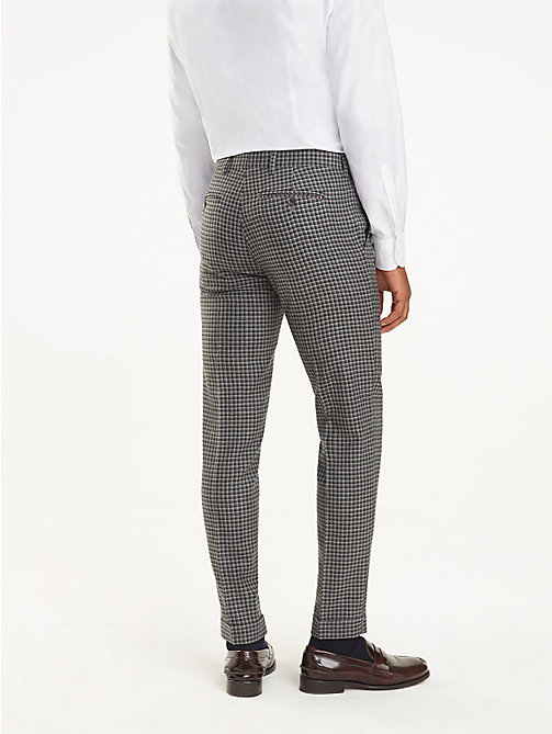 TOMMY HILFIGER Virgin Wool Check Trousers - 019 - TOMMY HILFIGER Formal Trousers - detail image 1