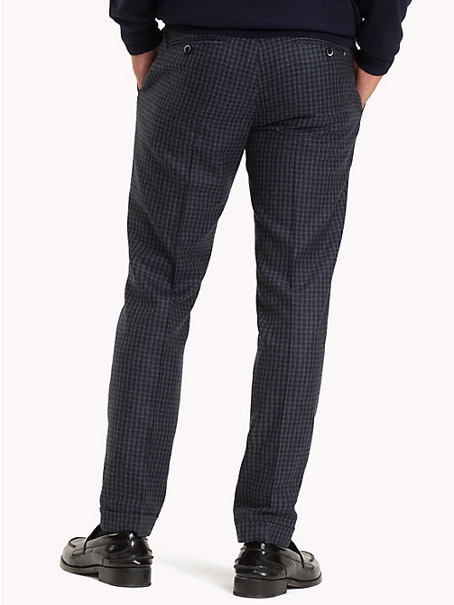 TOMMY HILFIGER Virgin Wool Check Trousers - 425 - TOMMY HILFIGER Formal Trousers - detail image 1