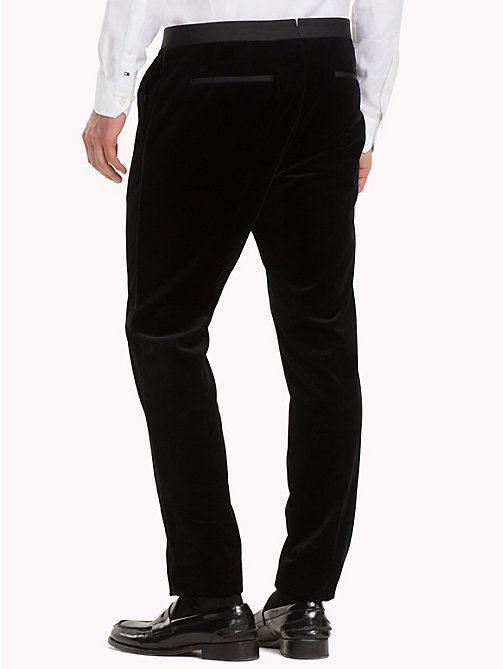 TOMMY HILFIGER Velvet Slim Fit Trousers - 099 - TOMMY HILFIGER Suits & Tailored - detail image 1