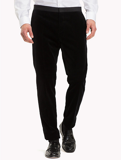 TOMMY HILFIGER Velvet Slim Fit Trousers - 099 - TOMMY HILFIGER Suits & Tailored - main image