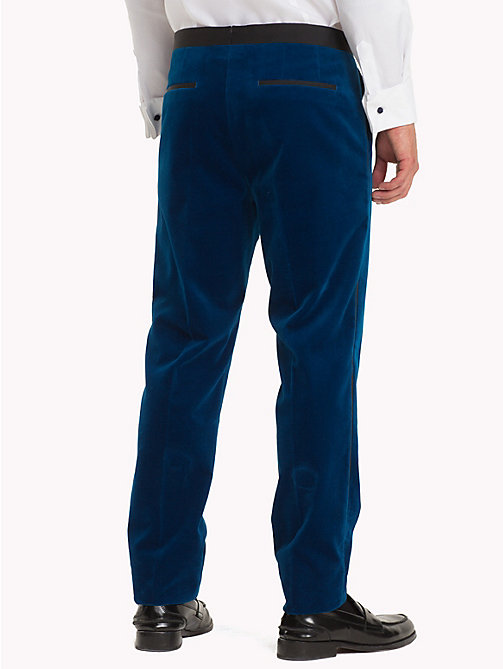 TOMMY HILFIGER Velvet Slim Fit Trousers - 405 - TOMMY HILFIGER Suits & Tailored - detail image 1