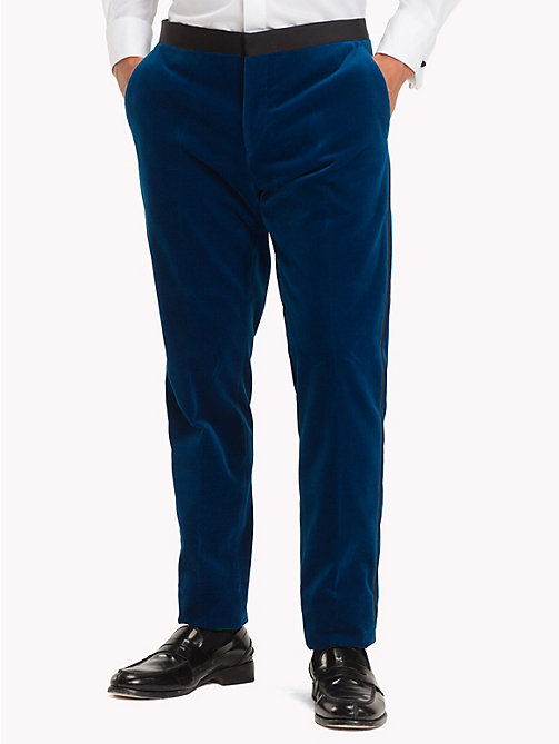 TOMMY HILFIGER Velvet Slim Fit Trousers - 405 - TOMMY HILFIGER Suits & Tailored - main image
