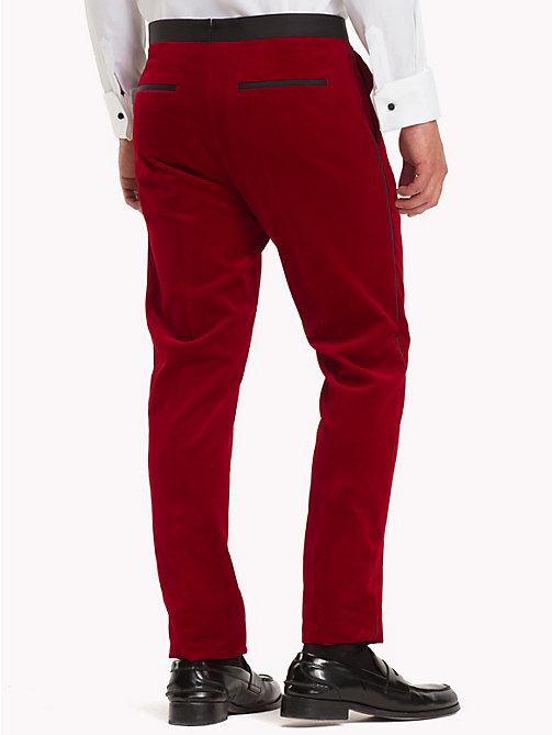 TOMMY HILFIGER Velvet Slim Fit Trousers - 619 - TOMMY HILFIGER Suits & Tailored - detail image 1