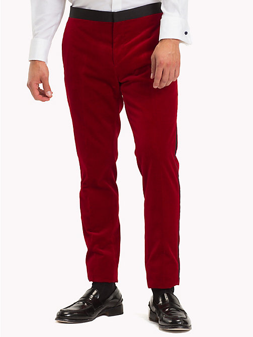 TOMMY HILFIGER Velvet Slim Fit Trousers - 619 - TOMMY HILFIGER Suits & Tailored - main image