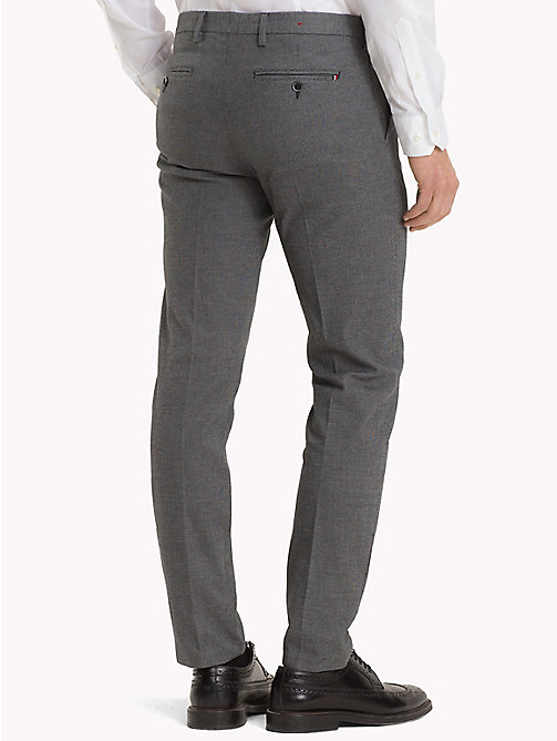 TOMMY HILFIGER Micro Design Slim Fit Trousers - 017 - TOMMY HILFIGER Formal Trousers - detail image 1