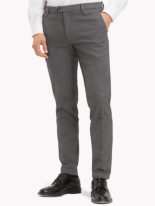 TOMMY HILFIGER Micro Design Slim Fit Trousers - 017 - TOMMY HILFIGER Formal Trousers - main image