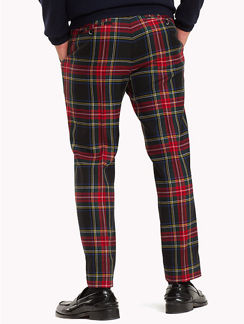 TOMMY HILFIGER Tartan Pure Wool Trousers - 099 - TOMMY HILFIGER Gifts for Him - detail image 1