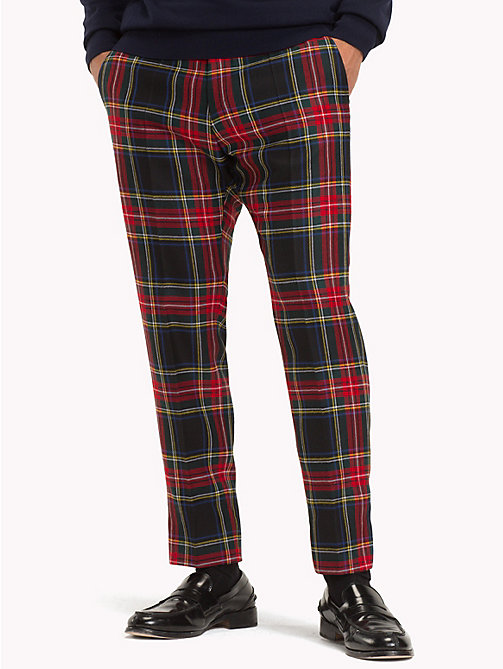 TOMMY HILFIGER Tartan Pure Wool Trousers - 099 - TOMMY HILFIGER Trousers & Shorts - main image