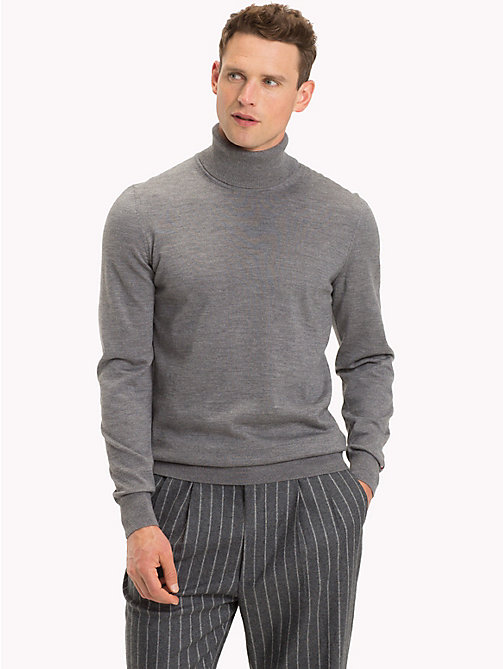TOMMY HILFIGER Wool Turtleneck Pullover - STEEL GRAY HEATHER - TOMMY HILFIGER Sweatshirts & Knitwear - main image