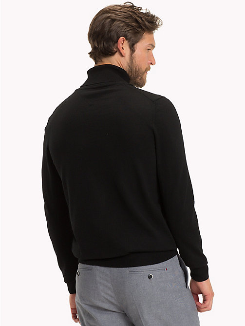 TOMMY HILFIGER Wool Turtleneck Pullover - JET BLACK - TOMMY HILFIGER Jumpers - detail image 1