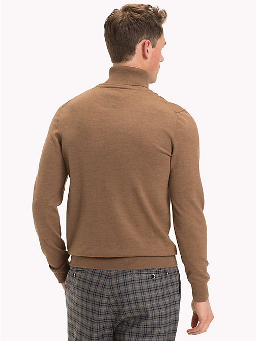 TOMMY HILFIGER Wool Turtleneck Pullover - TOASTED COCONUT HTR - TOMMY HILFIGER Gifts for Him - detail image 1