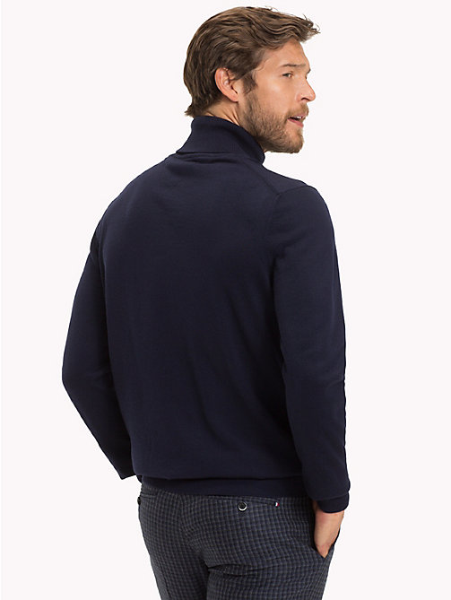 TOMMY HILFIGER Wool Turtleneck Pullover - NAVY BLAZER - TOMMY HILFIGER Something Special - detail image 1