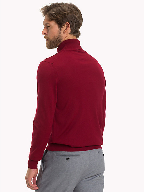 TOMMY HILFIGER Wool Turtleneck Pullover - SUNDRIED TOMATO - TOMMY HILFIGER Tailored Knitwear - detail image 1