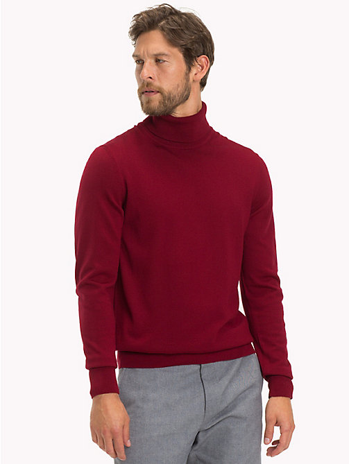 TOMMY HILFIGER Wool Turtleneck Pullover - SUNDRIED TOMATO - TOMMY HILFIGER Tailored Knitwear - main image