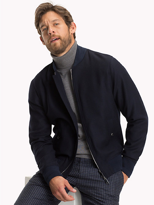 TOMMY HILFIGER Stretch Wool Bomber Jacket - 428 - TOMMY HILFIGER Clothing - main image
