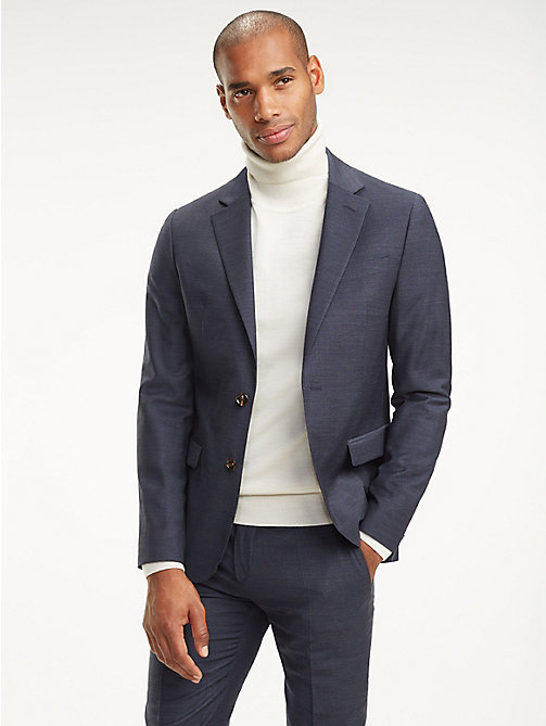 TOMMY HILFIGER Virgin Wool Slim Fit Blazer - 429 - TOMMY HILFIGER Coats & Jackets - main image