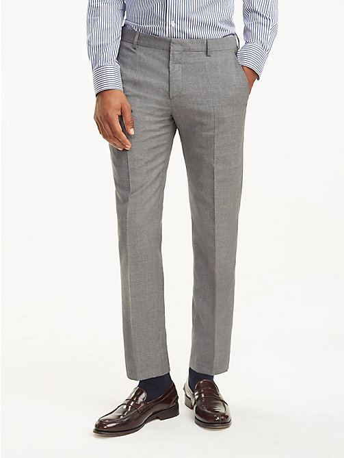 TOMMY HILFIGER Virgin Wool Trousers - 015 - TOMMY HILFIGER Trousers & Shorts - main image