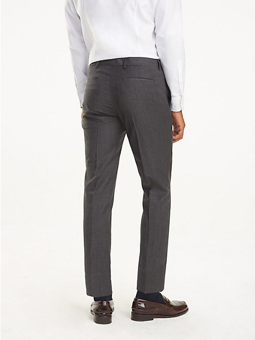 TOMMY HILFIGER Virgin Wool Trousers - 029 - TOMMY HILFIGER Trousers & Shorts - detail image 1