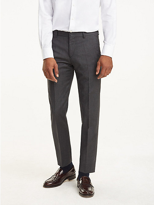 TOMMY HILFIGER Virgin Wool Trousers - 029 - TOMMY HILFIGER Trousers & Shorts - main image