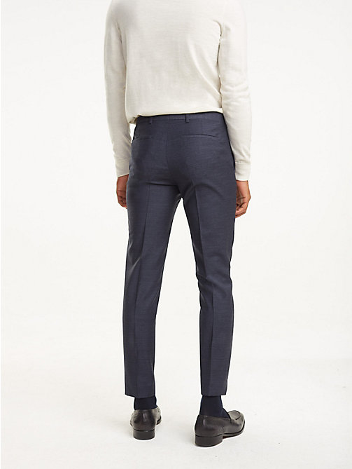 TOMMY HILFIGER Slim Fit Virgin Wool Trousers - 429 - TOMMY HILFIGER Trousers & Shorts - detail image 1