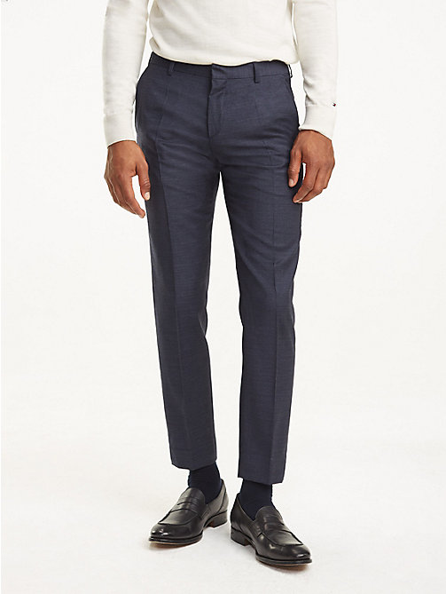 TOMMY HILFIGER Slim Fit Virgin Wool Trousers - 429 - TOMMY HILFIGER Trousers & Shorts - main image