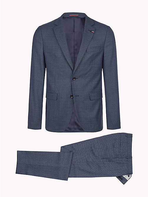 TOMMY HILFIGER Virgin Wool Slim Fit Suit - 425 - TOMMY HILFIGER Clothing - detail image 1