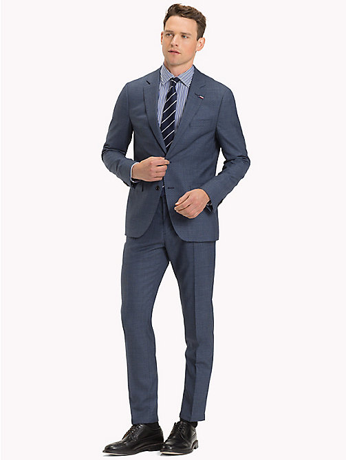 TOMMY HILFIGER Completo slim fit in pura lana vergine - 425 - TOMMY HILFIGER Fitted - immagine principale