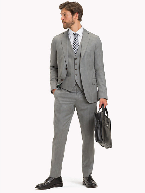 TOMMY HILFIGER Three Piece Virgin Wool Herringbone Suit - 015 - TOMMY HILFIGER Suits & Tailored - main image