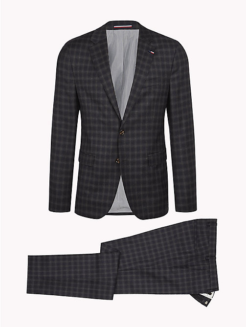 TOMMY HILFIGER Two-Piece Check Virgin Wool Suit - 029 - TOMMY HILFIGER Suits - detail image 1