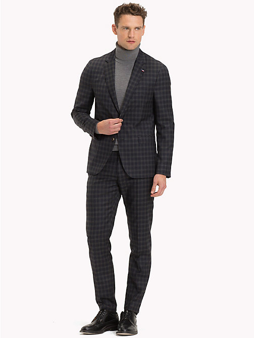 TOMMY HILFIGER Two-Piece Check Virgin Wool Suit - 029 - TOMMY HILFIGER Suits - main image
