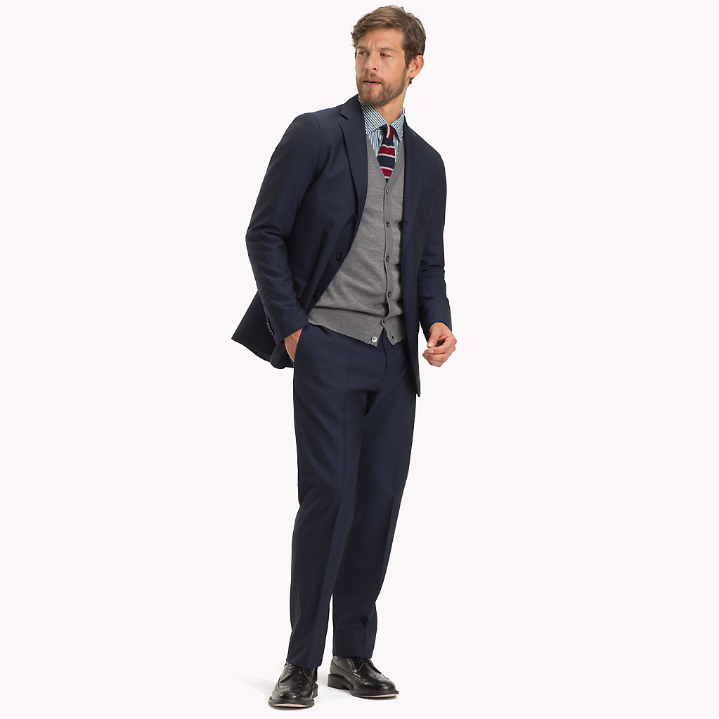 Tommy Hilfiger - Classic Virgin Wool Two-Piece Suit - 1