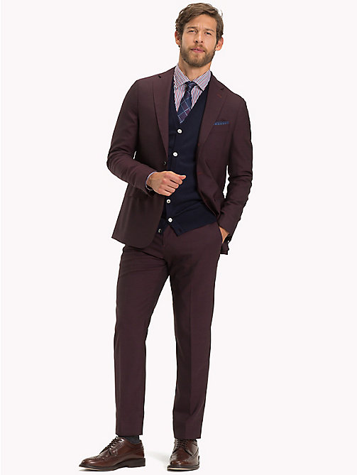 TOMMY HILFIGER Classic Virgin Wool Two-Piece Suit - 627 - TOMMY HILFIGER Fitted - main image
