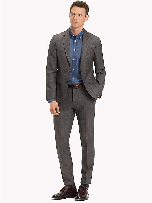 TOMMY HILFIGER Check Virgin Wool Suit - 027 - TOMMY HILFIGER Clothing - main image
