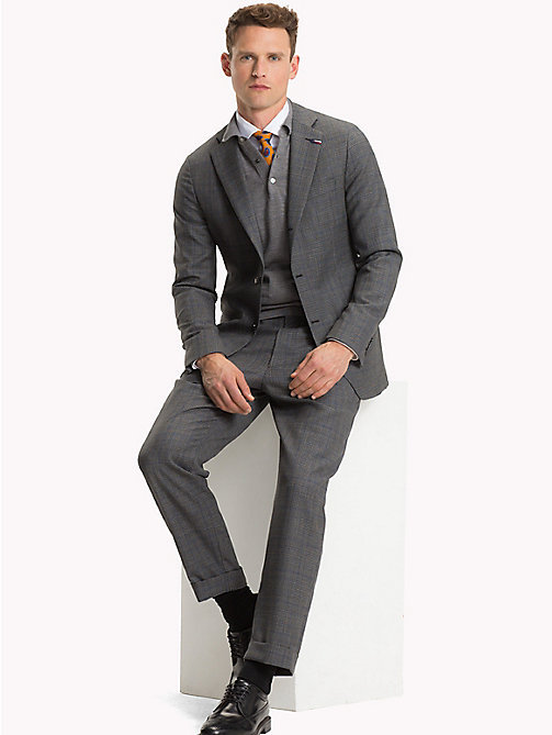 TOMMY HILFIGER Glen Check Two Piece Wool Suit - 027 - TOMMY HILFIGER Suits & Tailored - main image