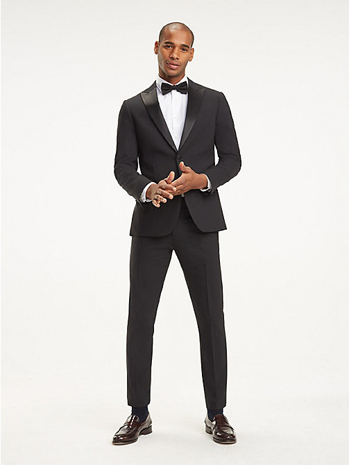 TOMMY HILFIGER Wool Blend Tuxedo Jacket - 099 - TOMMY HILFIGER Suits & Tailored - main image
