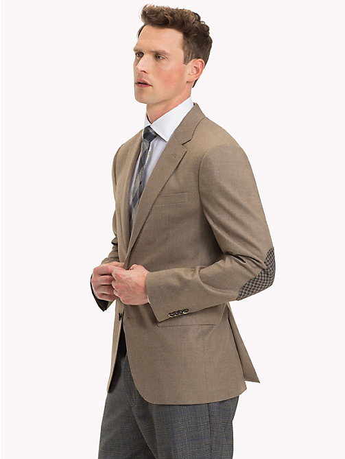 TOMMY HILFIGER Elbow Patch Virgin Wool Blazer - 206 - TOMMY HILFIGER Suits & Tailored - main image