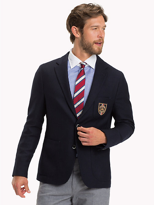 TOMMY HILFIGER Crest Slim Fit Blazer - 428 - TOMMY HILFIGER Black Friday Men - main image