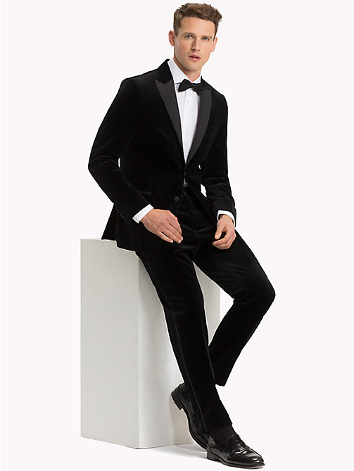 TOMMY HILFIGER Velvet Slim Fit Dinner Jacket - 099 - TOMMY HILFIGER Suits & Tailored - detail image 1