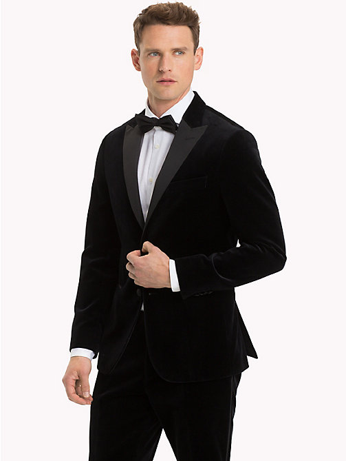 TOMMY HILFIGER Velvet Slim Fit Dinner Jacket - 099 - TOMMY HILFIGER Suits & Tailored - main image