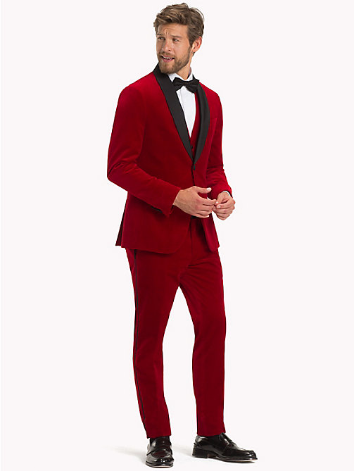 TOMMY HILFIGER Velvet Slim Fit Dinner Jacket - 619 - TOMMY HILFIGER Suits & Tailored - detail image 1