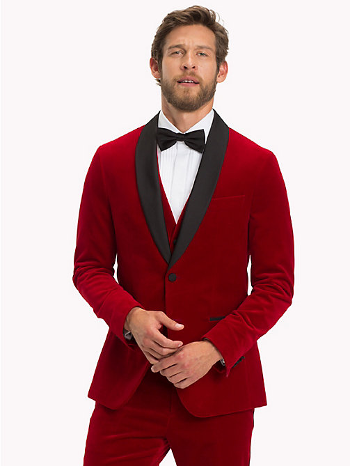 TOMMY HILFIGER Velvet Slim Fit Dinner Jacket - 619 - TOMMY HILFIGER Coats & Jackets - main image