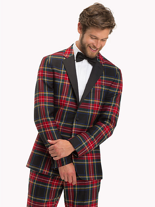 TOMMY HILFIGER Tartan Slim Fit Blazer - 099 - TOMMY HILFIGER Suits & Tailored - main image