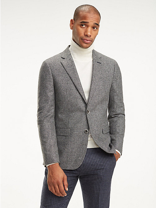 TOMMY HILFIGER Wool Blend Slim Fit Blazer - 020 - TOMMY HILFIGER Gifts for Him - main image